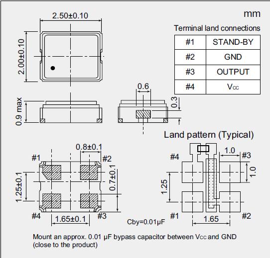 四脚贴片有源晶振,超小型贴片晶振,nz2520shb晶振