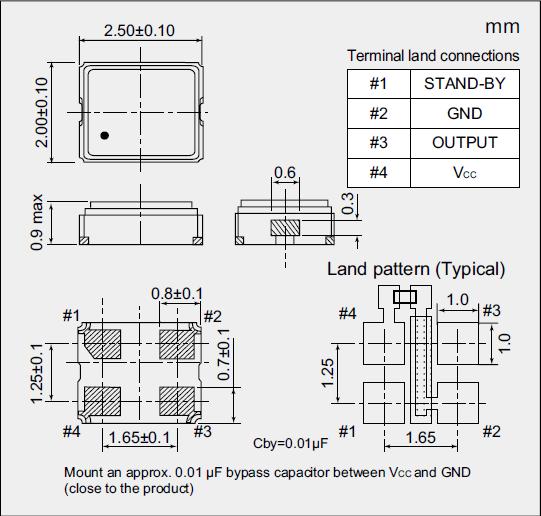 超小型有源晶体,贴片型osc振荡器,nz2520sj晶振