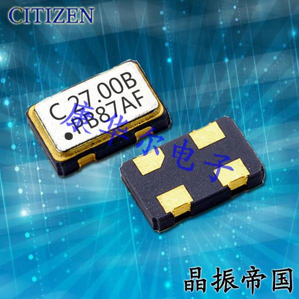 CITIZEN晶振,贴片晶振,SSX-750P晶振
